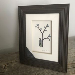 "Sharon Nowlan Pebble w/ frame ""Birds of a Feather"""
